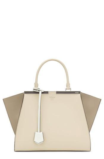 Fendi 3jours Colorblock Leather Shopper - Beige