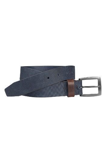 Men's Johnston & Murphy Leather Belt - Navy