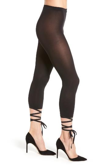 Women's Wolford Lace-up Footless Tights