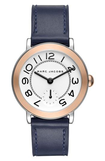 Women's Marc Jacobs Riley Leather Strap Watch, 36mm