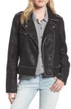 Women's Splendid Faux Leather Moto Jacket - Black