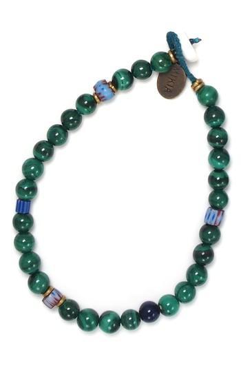 Men's Mikia Malachite Bead Bracelet