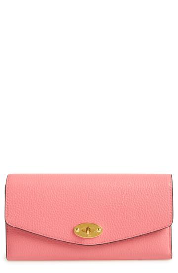 Women's Mulberry Darley Classic Small Leather Wallet - Pink