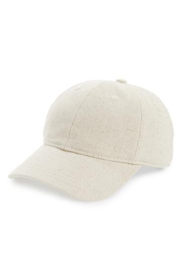 Women's Madewell Cotton & Linen Baseball Cap -