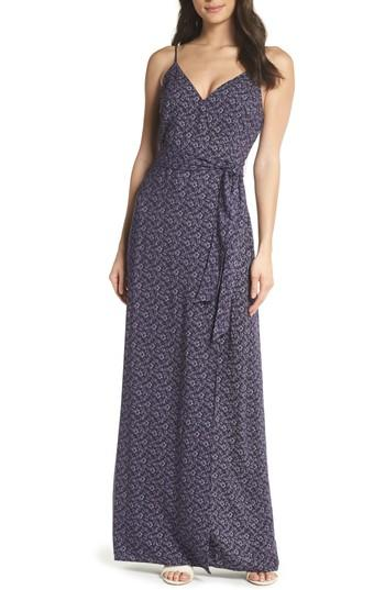 Women's Paige Regina Floral Print Maxi Dress - Blue