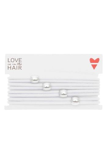 Love Is In The Hair Racer 4-pack Hair Ties, Size - White