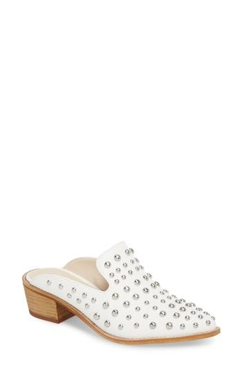 Women's Chinese Laundry Mollie Studded Loafer Mule M - White