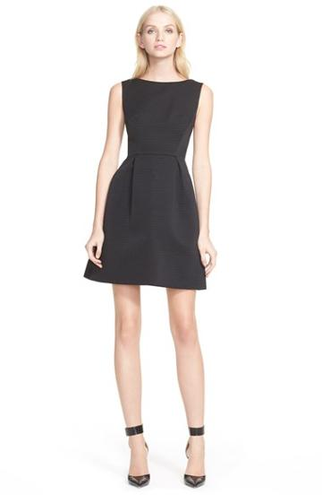 Women's Kate Spade Textured Fit & Flare Bow