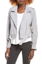 Women's Blanknyc Morning Suede Moto Jacket - Grey