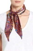 Women's Echo Ditzy Floral Silk Scarf, Size - Blue