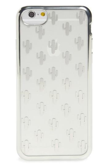 Ok Originals Transparent Cactus Iphone 6/6s/7 Case - Metallic