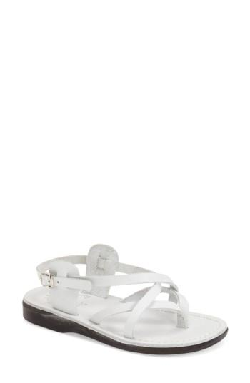 Women's Jerusalem Sandals 'tamar' Strappy Sandal Us / 38eu - White