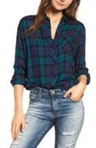 Women's Rails Hunter Plaid Shirt, Size - Blue/green