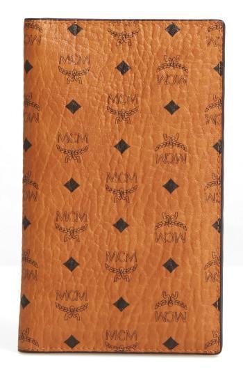 Women's Mcm Color Visetos Passport Holder - Brown