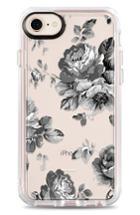 Casetify Black Floral Iphone 7/8 & 7/8 Case - Grey