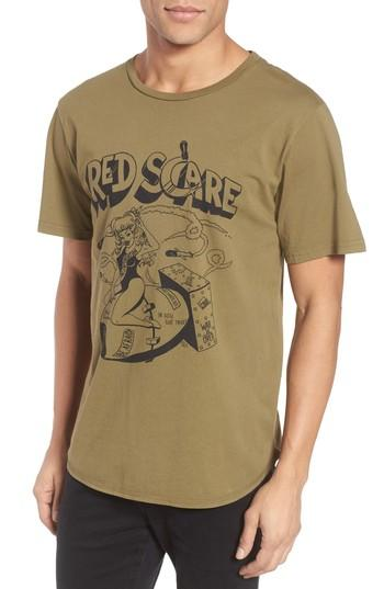 Men's Barking Irons Red Scare Graphic T-shirt - Green