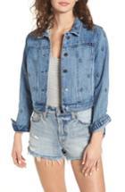 Women's Obey Stardom Studded Denim Jacket - Blue