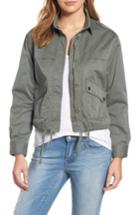 Women's Velvet By Graham & Spencer Crop Army Jacket - Green