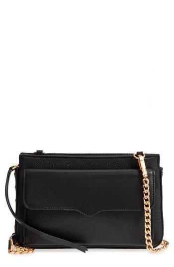 Women's Rebecca Minkoff Small Bree Leather Crossbody Bag - Black