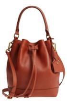 Madewell Lafayette Leather Bucket Bag - Brown