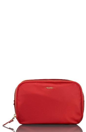 Tumi Lesley Cosmetics Case, Size - Crimson