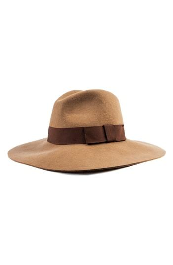 Women's Brixton 'piper' Floppy Wool Hat - Brown