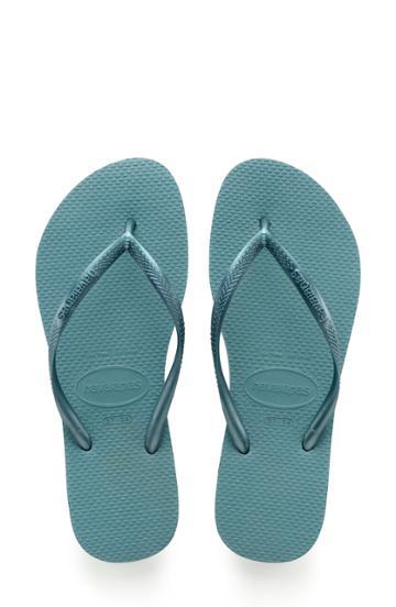Women's Havaianas 'slim' Flip Flop /40 Br - Blue/green