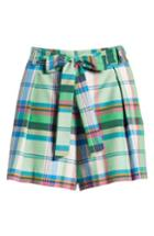 Women's 1901 Pleated Plaid Shorts - Green
