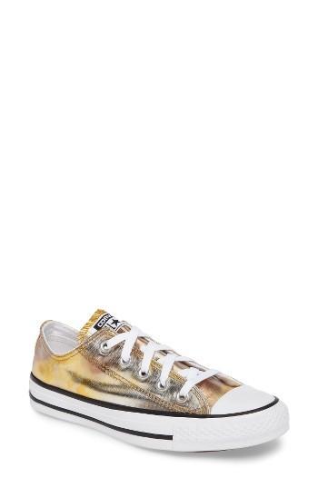 Women's Converse Chuck Taylor All Star Seasonal Metallic Ox Low Top Sneaker .5 M - Metallic