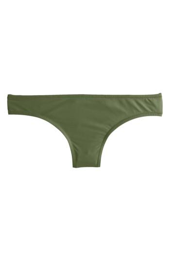Women's J.crew Bikini Bottoms - Green