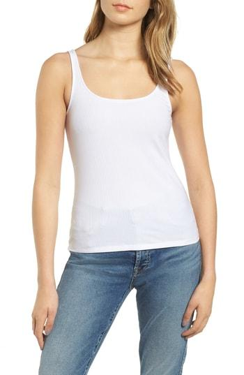 Women's 7 For All Mankind Rib Knit Tank Top - White