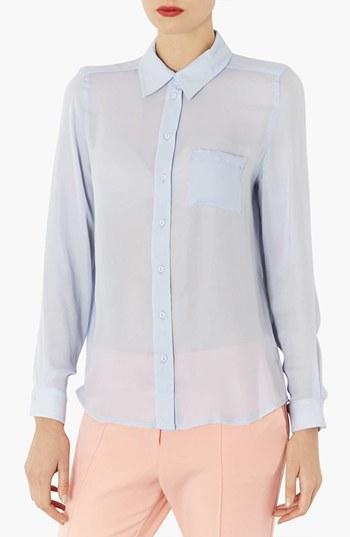 Topshop Sheer Shirt