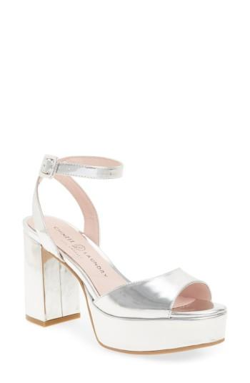 Women's Chinese Laundry Theresa Metallic Platform Sandal M - Metallic