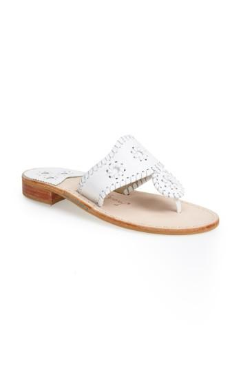 Women's Jack Rogers Whipstitched Flip Flop .5 W - White