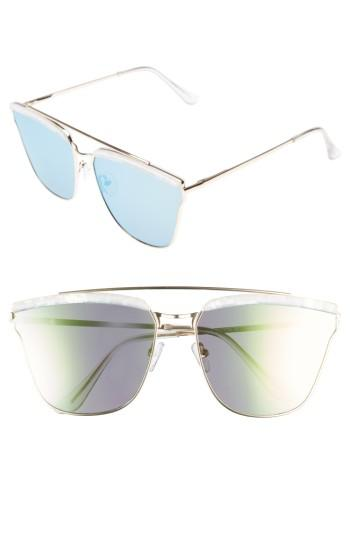 Women's Leith 60mm Mirror Sunglasses - Gold/ Marble
