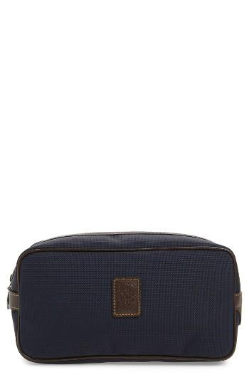 Longchamp Boxford Canvas & Leather Cosmetics Case, Size - Blue