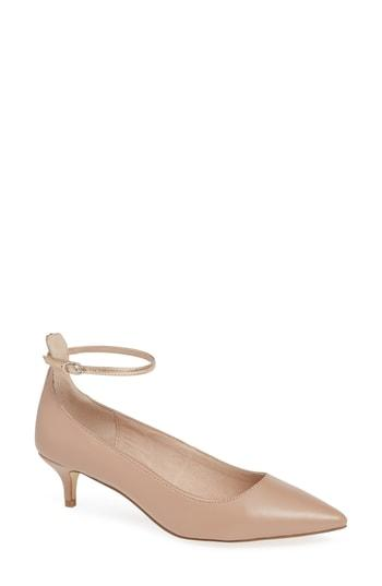 Women's Chinese Laundry Honey Ankle Strap Pump M - Beige
