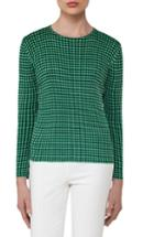 Women's Akris Check Jacquard Knit Silk Top