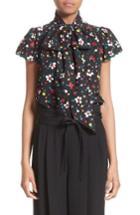 Women's Marc Jacobs Floral Silk Jacquard Blouse