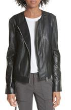 Women's Joie Morina Lambskin Leather Jacket - Black