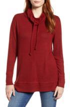 Women's Caslon Cowl Hood Pullover - Red