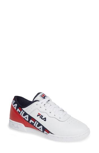 Women's Fila Original Fitness Logo Tape Sneaker .5 M - White