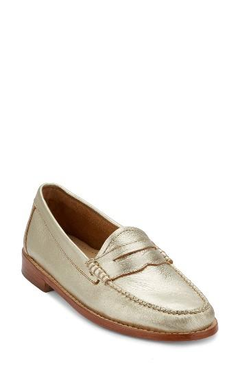 Women's G.h. Bass & Co. 'whitney' Loafer W - Metallic