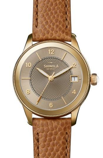 Women's Shinola Gail Leather Strap Watch, 36mm