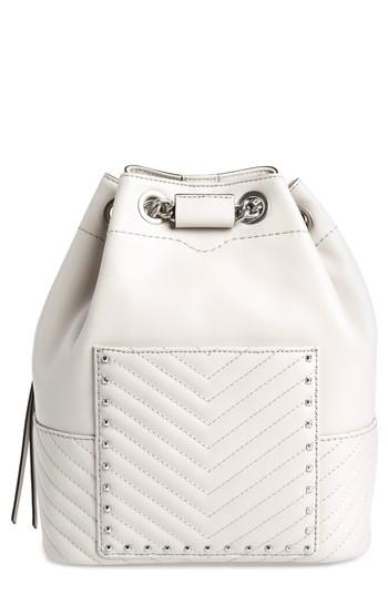 Rebecca Minkoff Becky Convertible Leather Backpack - Ivory