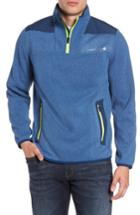 Men's Vineyard Vines Shep Quarter Zip Fleece Sweater - Blue