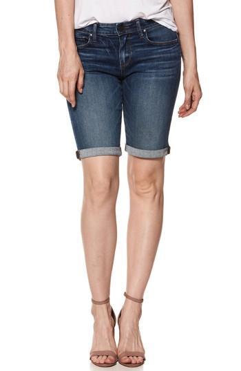 Women's Paige Transcend Vintage - Jax Denim Bermuda Shorts - Blue