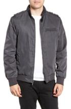 Men's Members Only Iconic Racer Jacket, Size - Grey