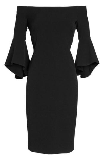 Petite Women's Chelsea28 Off The Shoulder Dress P - Black