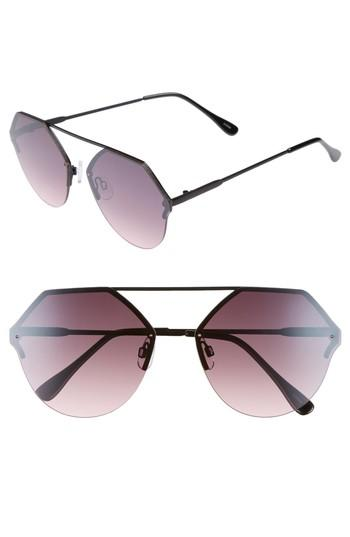 Women's Bp. Metal Flat Brow Bar Geometric Sunglasses - Black